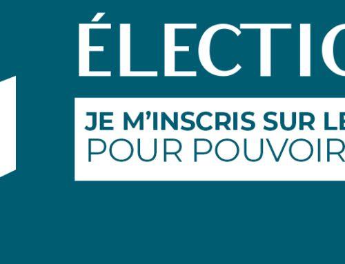 Élections : inscrivez vous avant le 14 mai